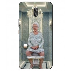 Durable Queen Elizabeth On The Toilet Cover For Gionee A1 Plus