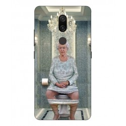 Durable Queen Elizabeth On The Toilet Cover For Lenovo K8 Plus
