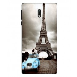 Durable Paris Eiffel Tower Cover For Nokia 3