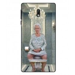 Durable Queen Elizabeth On The Toilet Cover For Nokia 3