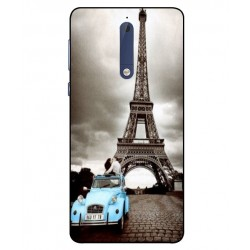 Durable Paris Eiffel Tower Cover For Nokia 5