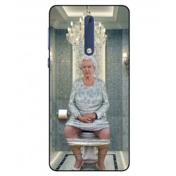 Durable Queen Elizabeth On The Toilet Cover For Nokia 5