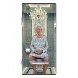 Durable Queen Elizabeth On The Toilet Cover For Sony Xperia XA1 Plus