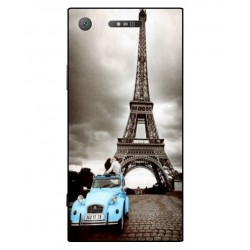 Durable Paris Eiffel Tower Cover For Sony Xperia XZ1