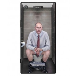 Durable Vladimir Putin On The Toilet Cover For Sony Xperia XZ1