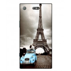 Durable Paris Eiffel Tower Cover For Sony Xperia XZ1 Compact