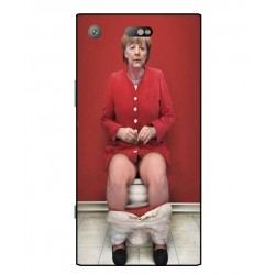 Durable Angela Merkel On The Toilet Cover For Sony Xperia XZ1 Compact