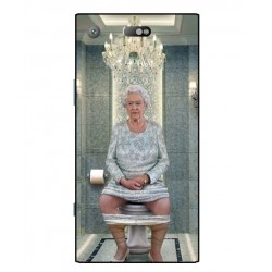 Durable Queen Elizabeth On The Toilet Cover For Sony Xperia XZ1 Compact