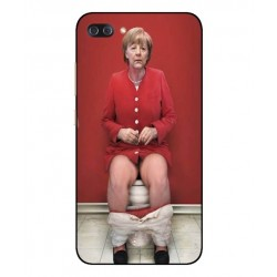 Durable Angela Merkel On The Toilet Cover For Asus Zenfone 4 Max Plus ZC554KL