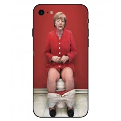Durable Angela Merkel On The Toilet Cover For iPhone 8