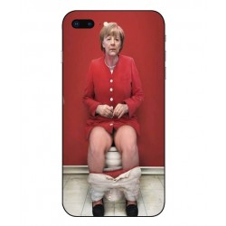 Durable Angela Merkel On The Toilet Cover For iPhone 8 Plus