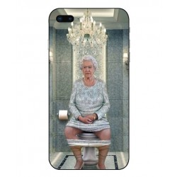 Dronning Elizabeth På Toilettet Cover Til iPhone 8 Plus