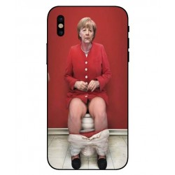 Durable Angela Merkel On The Toilet Cover For iPhone X