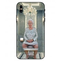 Durable Queen Elizabeth On The Toilet Cover For iPhone X