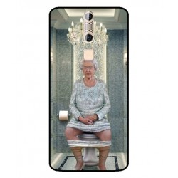 Durable Queen Elizabeth On The Toilet Cover For ZTE Axon Elite