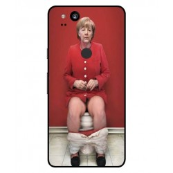 Durable Angela Merkel On The Toilet Cover For Google Pixel 2 XL