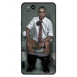 Durable Obama On The Toilet Cover For Google Pixel 2 XL