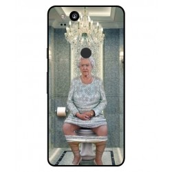 Durable Queen Elizabeth On The Toilet Cover For Google Pixel 2 XL