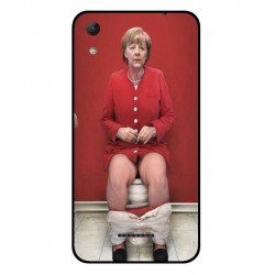 Durable Angela Merkel On The Toilet Cover For Wiko Lenny 4