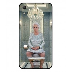 Durable Queen Elizabeth On The Toilet Cover For Wiko Lenny 4