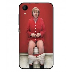 Durable Angela Merkel On The Toilet Cover For Wiko Sunny 2