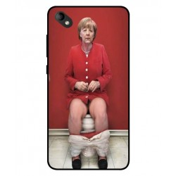 Durable Angela Merkel On The Toilet Cover For Wiko Sunny 2 Plus