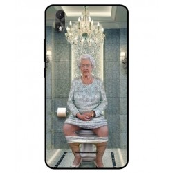 Durable Queen Elizabeth On The Toilet Cover For Wiko Lenny 4 Plus