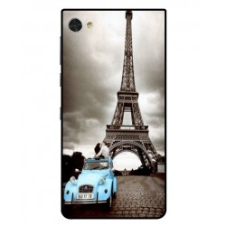 Durable Paris Eiffel Tower Cover For Blackberry Motion