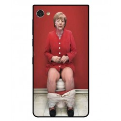 Durable Angela Merkel On The Toilet Cover For Blackberry Motion