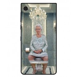 Durable Queen Elizabeth On The Toilet Cover For Blackberry Motion