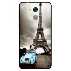Durable Paris Eiffel Tower Cover For Huawei Honor 6C Pro