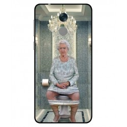 Durable Queen Elizabeth On The Toilet Cover For Huawei Honor 6C Pro