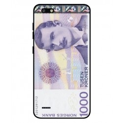 1000 Norwegian Kroner Note Cover For ZTE Blade Force
