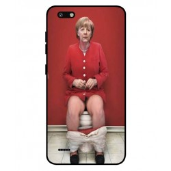 Durable Angela Merkel On The Toilet Cover For ZTE Blade Force