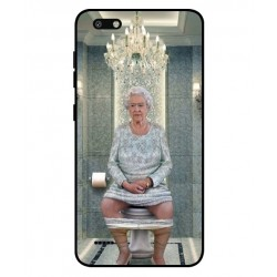 Durable Queen Elizabeth On The Toilet Cover For ZTE Blade Force