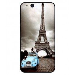 Durable Paris Eiffel Tower Cover For ZTE Tempo X