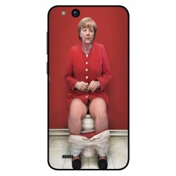 Durable Angela Merkel On The Toilet Cover For ZTE Tempo X