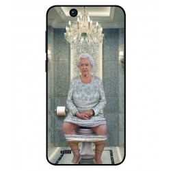 Durable Queen Elizabeth On The Toilet Cover For ZTE Tempo X