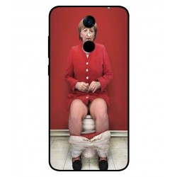 Durable Angela Merkel On The Toilet Cover For Cubot Note Plus