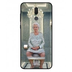 Durable Queen Elizabeth On The Toilet Cover For Huawei Mate 10 Lite