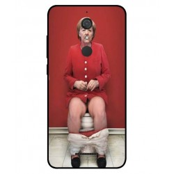 Durable Angela Merkel On The Toilet Cover For Wiko View