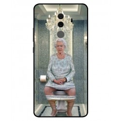 Durable Queen Elizabeth On The Toilet Cover For Huawei Mate 10 Pro