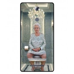 Durable Queen Elizabeth On The Toilet Cover For Leagoo T1 Plus