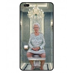 Durable Queen Elizabeth On The Toilet Cover For Leagoo T5