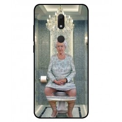 Durable Queen Elizabeth On The Toilet Cover For Wiko View Prime