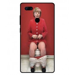 Durable Angela Merkel On The Toilet Cover For ZTE Nubia Z17S