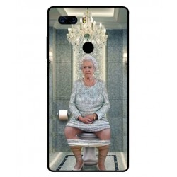 Durable Queen Elizabeth On The Toilet Cover For ZTE Nubia Z17S