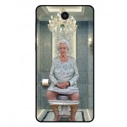 Durable Queen Elizabeth On The Toilet Cover For Archos 60 Platinum