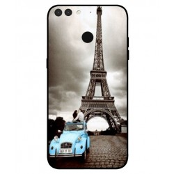 Durable Paris Eiffel Tower Cover For Archos Sense 55S