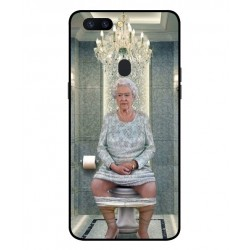 Durable Queen Elizabeth On The Toilet Cover For Oppo R11s